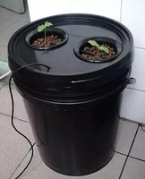 20L Aeroponics pot with 2 net cup and Portable Heated Propagator! 2x Pot with cycle timer MIST AERO POT cloner bucket