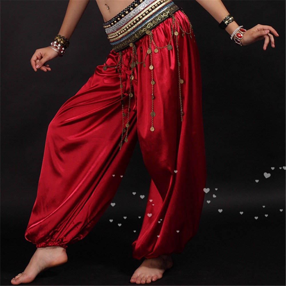 2019 de alta qualidade calças de dança do ventre tribal Bloomers para mulheres traje de dança do ventre calça várias cores