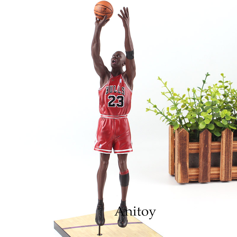 NBA Michael Jordan Chicago BULLS 23 Action Figure Toy PVC UpperDeck Collection Model Dolls Christmas Present Toys for Boys фанатская атрибутика nba chicago bulls 1998 23k