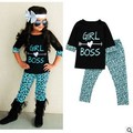 Girls Clothing Set Leopard grain Girls Clothes Set Lovely Half Sleeve Toddler Girl T Shirt +  Pants Girls Suit Kids Clothes sets