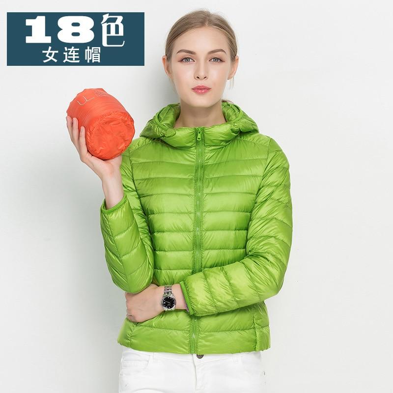 2017 Winter 90% White Duck Down Jacket Women Coats parka Ultra Light Down Jackets Reversible two side wear women jacket Winter