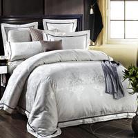 Boutique 100 Cotton Jacquard 4pcs Beding Sets Home Decoration Textile Wedding Bedding Sets Wedding Supplies Bedding