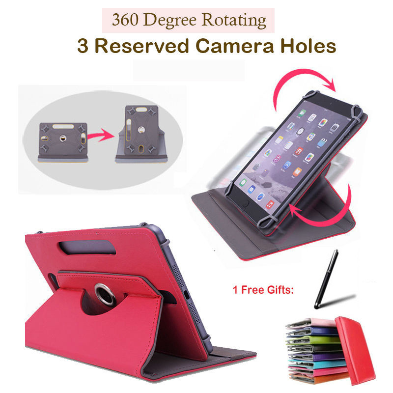 Tablet Accessories For Digma Idjd7 791234/idn7 4gb/idxd7 7 Inch 360 Degree Rotating Universal Tablet Pu Leather Cover Case Free Stylus Pen Tablets & E-books Case