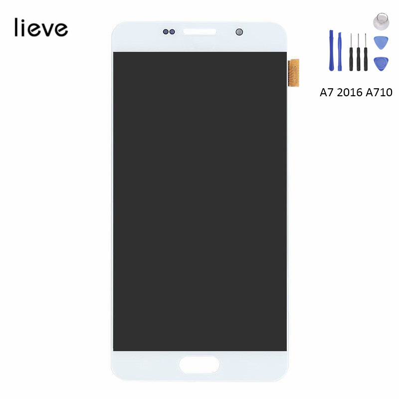 Touch Screen Digitizer LCD Display Full Assembly For Samsung Galaxy A7 2016 A710 Replacement with Free ShippingTouch Screen Digitizer LCD Display Full Assembly For Samsung Galaxy A7 2016 A710 Replacement with Free Shipping