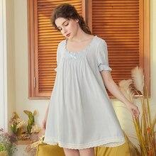 Roseheart Women Fashion Female White Pink Sexy Sleepwear Nightdress Lace Nightwear Sleepshirts Nightgown Luxury Gown
