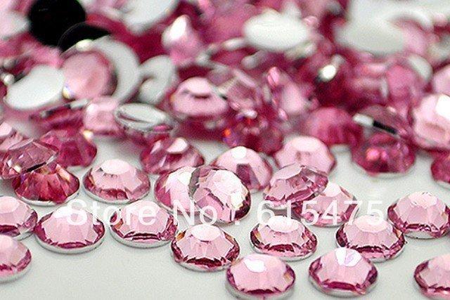 6mm Rosa de Color SS30 rhinestones de la Resina cristalina flatback, Envío Libre 10,000 unids/bolsa