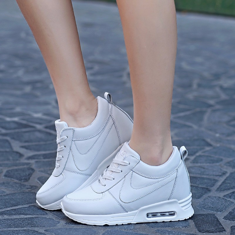 Height Increasing Casual Women Shoes 2016 Fashion Autumn PU Leather High Top Wedges Casual Shoes Lace Up Ladies Shoes YD139 (22)
