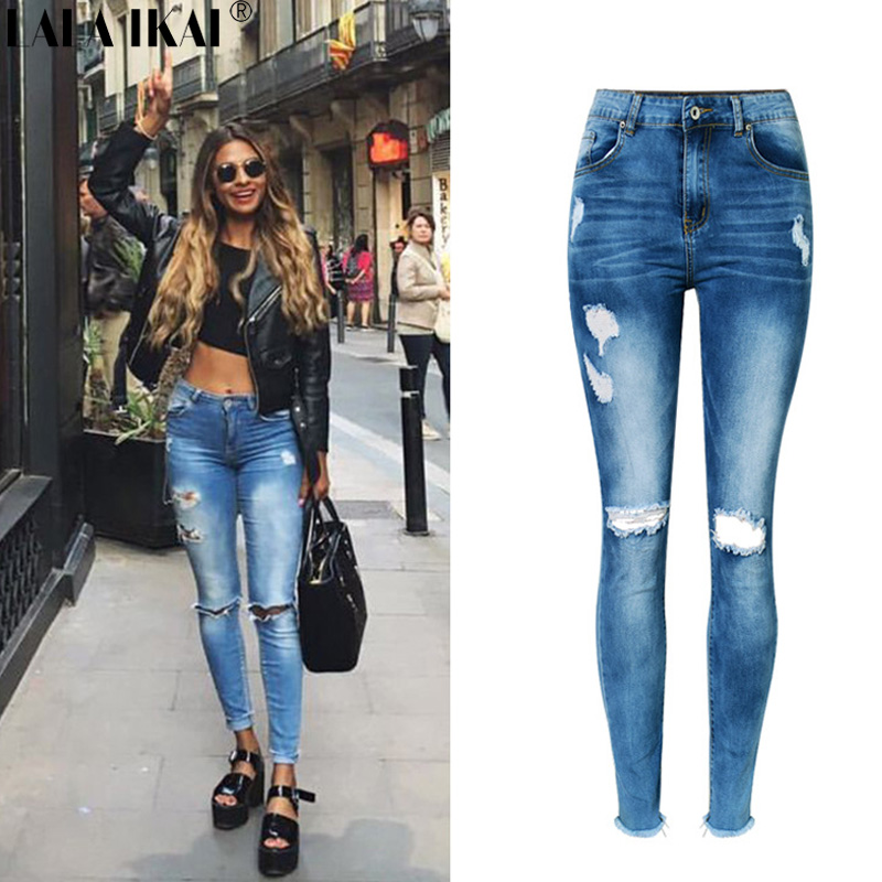 Online Get Cheap Distressed Jeans for Women -Aliexpress.com ...