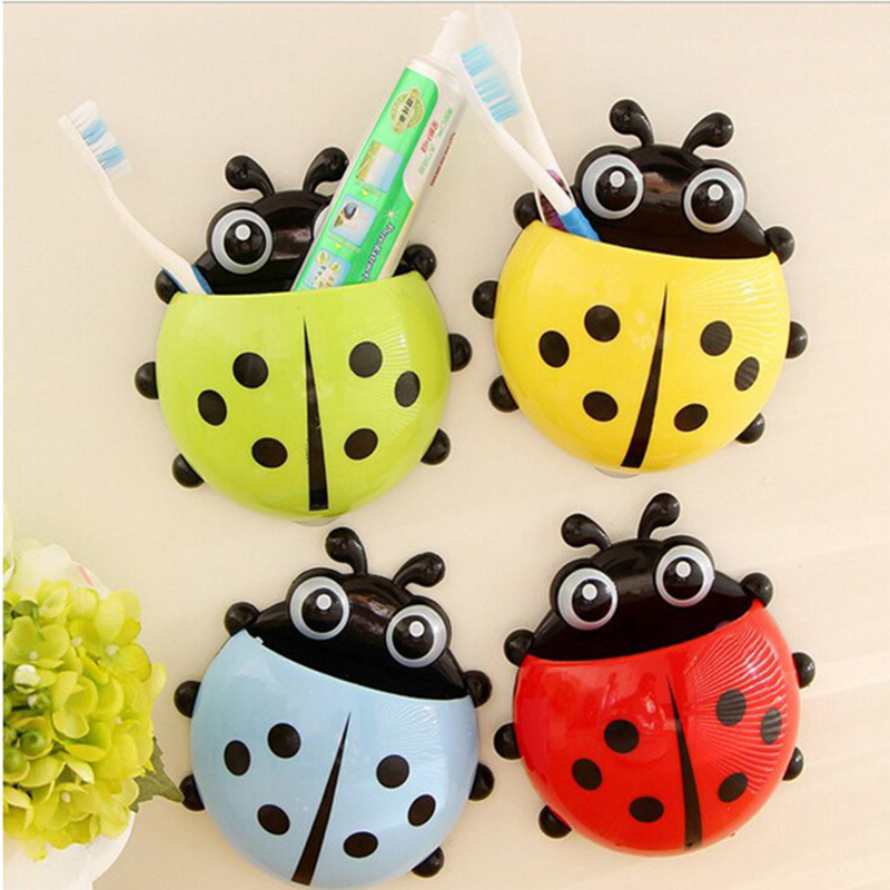 Aliexpress Cute Ladybug Cartoon Er Toothbrush Holder Suction Hooks Household Items Rack Bathroom Set 69824 From Reliable