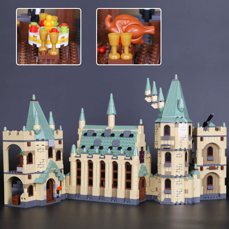 16030 The Hogwarts Castle Movies Building Block Bricks Set Compatible With New 4842 Educational Brick Toy