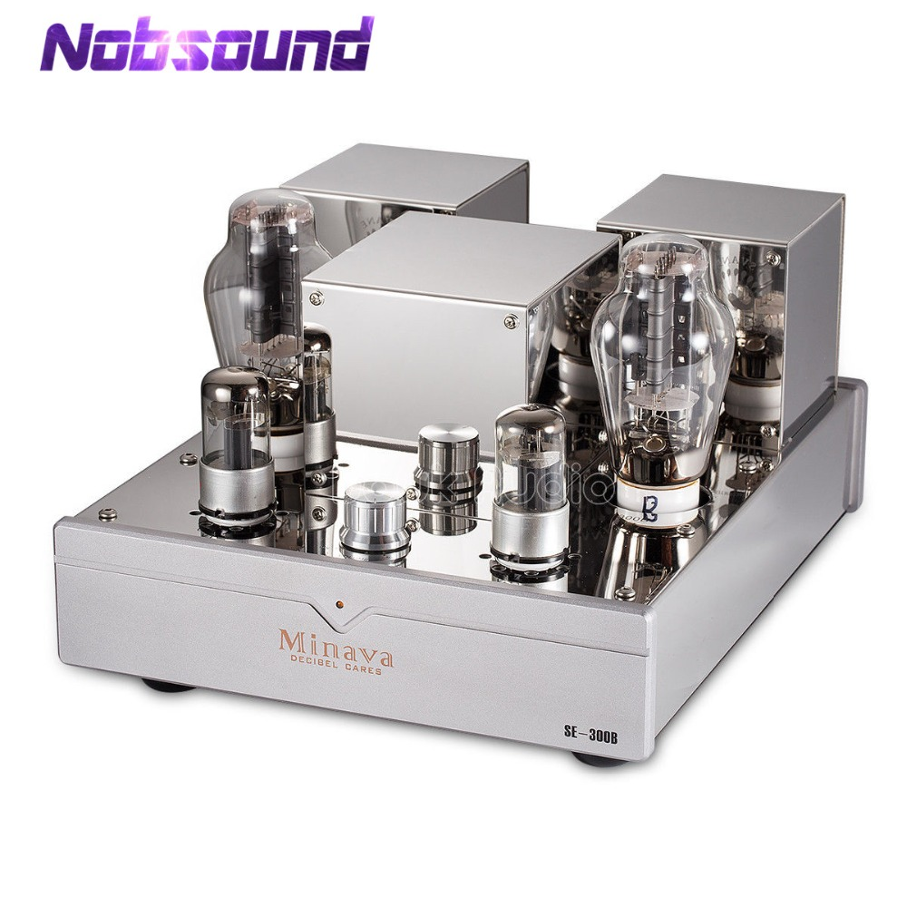 Nobsound Salut-fin 300B Single-ended Stéréo Intégré Tube À Vide Amplificateur Classe UN HiFi Audio Haute Puissance Valve amplificateur