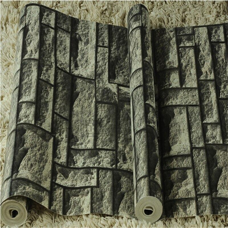 Beibehang brique pierre papier peint moderne vinyle PVC décor mural drak gris papier peint rouleaux lavable papier peint papel parede fond TV