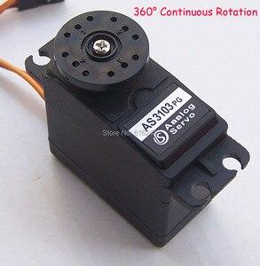 Image 1 - 2x 서보 360 연속 회전 아날로그 서보 DC 서보 모터 토크 플라스틱 기어 5.5 키로그램/센치메터 DC 4.8V 6V 스마트 카 로봇 용 DIY