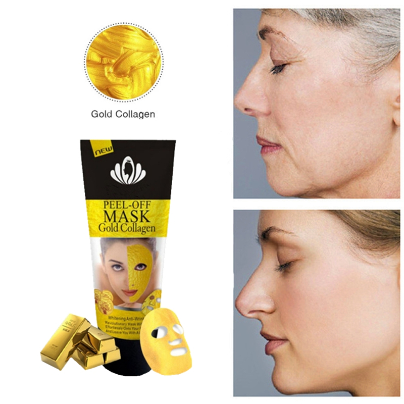 24K Gold Collagen Face Pack Anti Aging Neck Mask Remove Wrinkle Hand Wax Cleaning Blackhead Acne Mask Moisturizing Eye Patches
