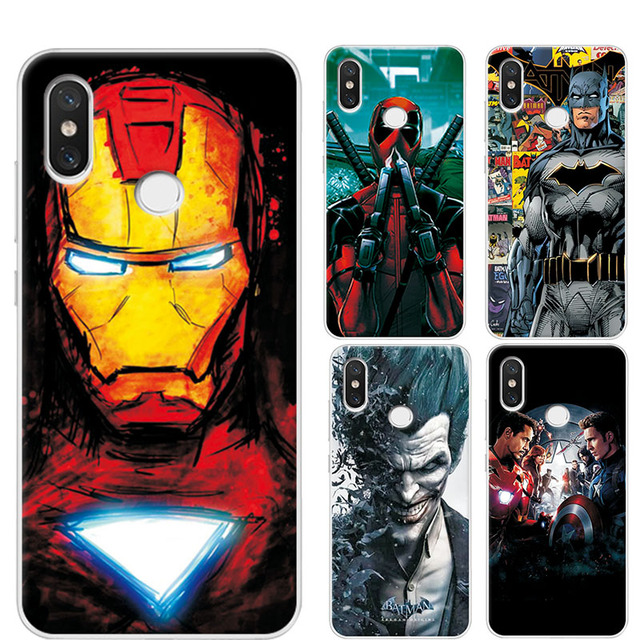 quality design a98e5 39015 US $0.92 21% OFF|Charming Case For Xiaomi Redmi Note 5 Pro Cover Avengers  Iron Man Phone Cases For Redmi note 5 pro Covers 7 Note5 Global Version-in  ...