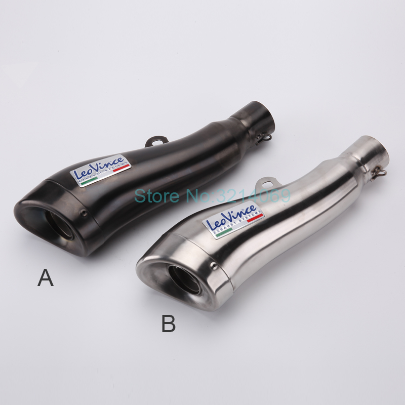 51MM Escape Moto Exhaust Muffler Dolphin Style GP Pipe Stainless Steel Motorbike Muffler Exhaust Pipe For CBR/LC135