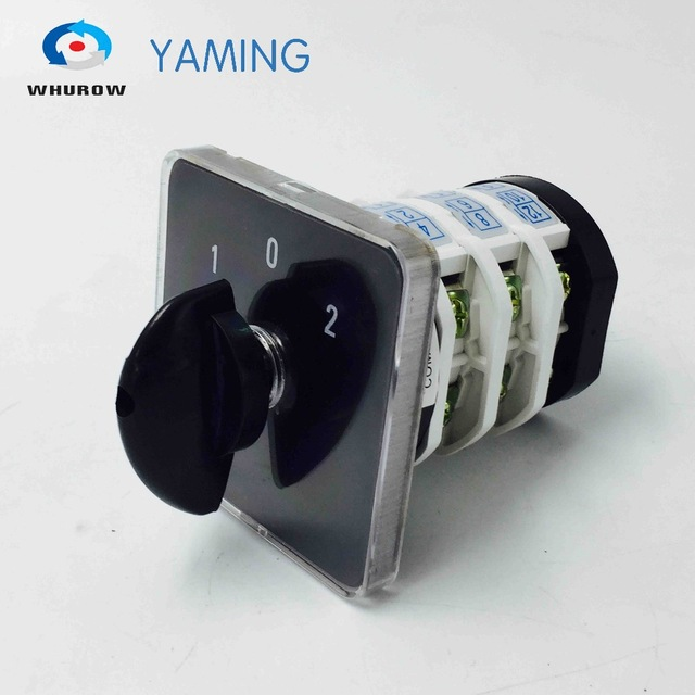 цена на 3 phase change over switch 32A 3 poles 3 position manual transfer selector on-off-on rotary cam switch YMZ12-32D0723.3