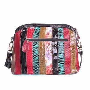 Image 2 - حقائب كتف نسائية فاخرة مصنوعة من الجلد الطبيعي حقيبة كروس الربيع حقيبة كروس حقائب نسائية لون عشوائي