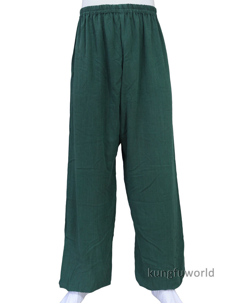 10 Colors Thick Cotton Tai Chi Kung Fu Pants Shaolin Wushu Martial Arts Wing Chun Trousers Custom Service Need Measurements