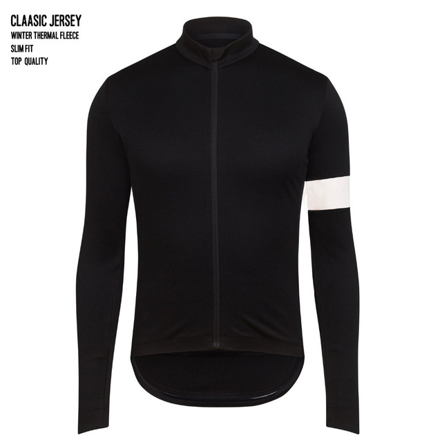 Winter Thermal Fleece Cycling Jersey Long Sleeve