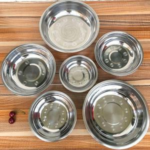 Stainless Steel Bowl Korean 1pcs Kitchen Restaurant Dinner Soup Rice Bowl 6 Sizes Optional 14-24cm