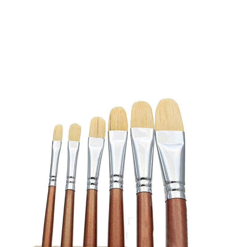 12 x FLAT ARTIST PAINT BRUSH SET Size 1-12 Small//Large Thin//Thick Art Brushes