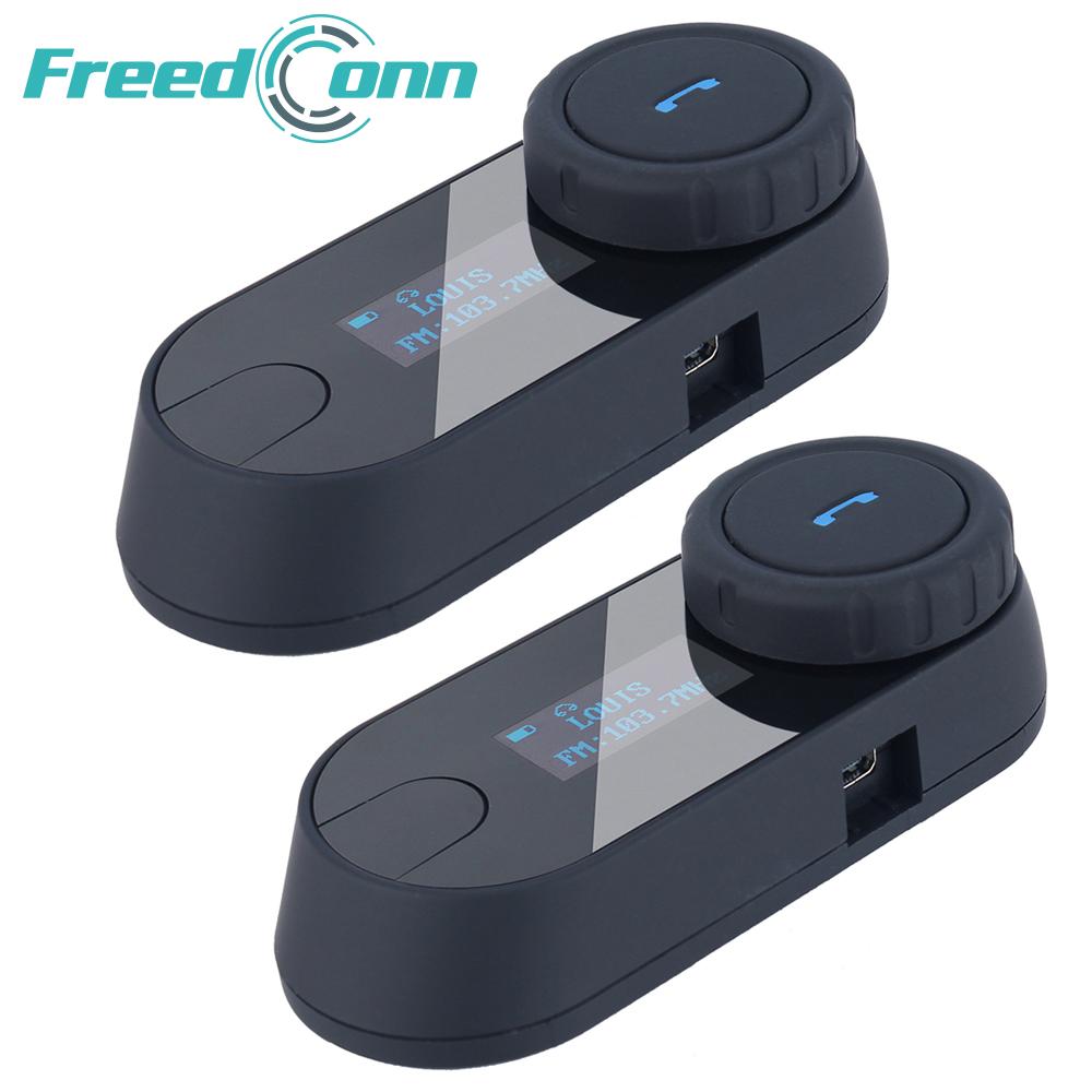 Prix pour 2 pcs 800 M Bluetooth Interphone avec Écran LCD FM Radio Casque Casque pour Casque de Moto Intercom 3 Coureurs