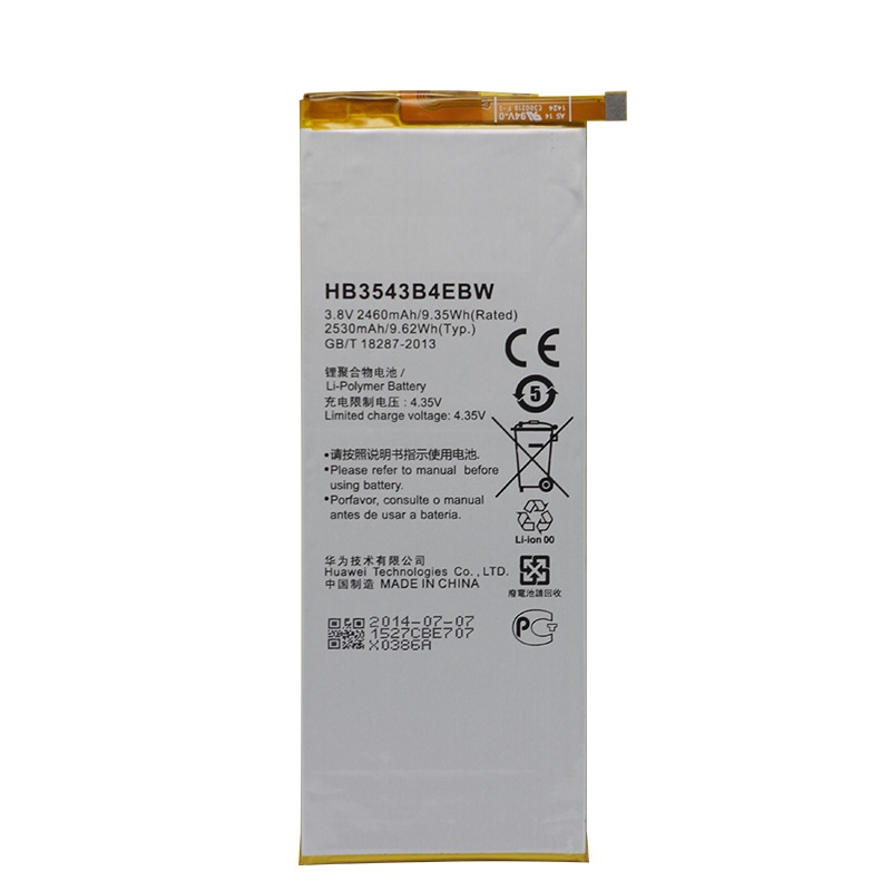 Replacement Battery HB3543B4EBW for <font><b>Huawei</b></font> Ascend <font><b>P7</b></font> <font><b>L07</b></font> L09 L00 L10 L05 L11 2460mAh Original antirr Replacement Battery image