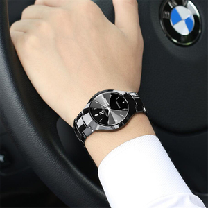 Image 3 - 2018 יוקרה מותג מאהב שעון זוג עמיד למים טונגסטן פלדת גברים נשים זוגות אוהבי שעונים סט שעוני יד Relogio Feminino