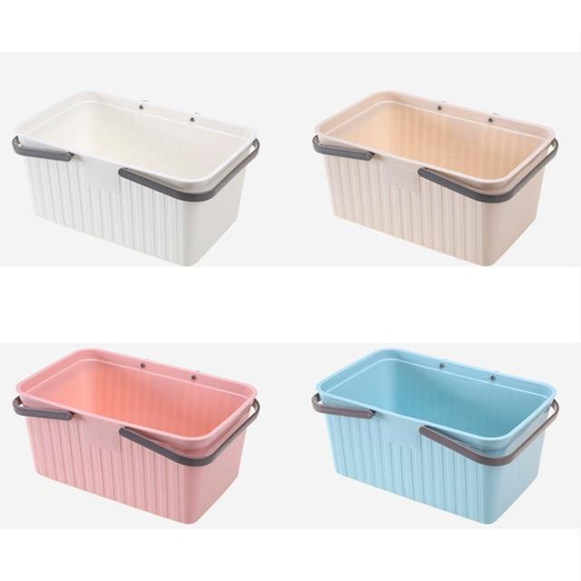 Aliexpress.com : Buy Japanese Portable Shower Basket Solid Color ...