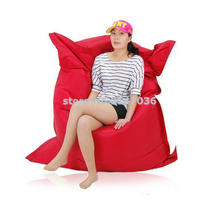 Large RED square waterproof outdoor beach bean bag chair