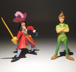 9cm Original Peter and Wendy Action Figure Peter Pan Captain Hook Figures Collectible Model Toy For Kids Gifts(China)