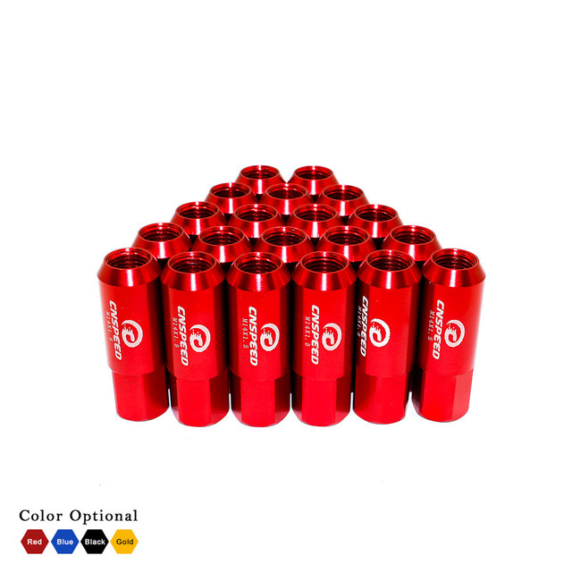 New arrival ! !CNSPEED 60mm M14 X 1.5 Wheel Nuts New 20PCS Racing Lug Wheel Nuts Screw / Aluminum Lug nut YC101006