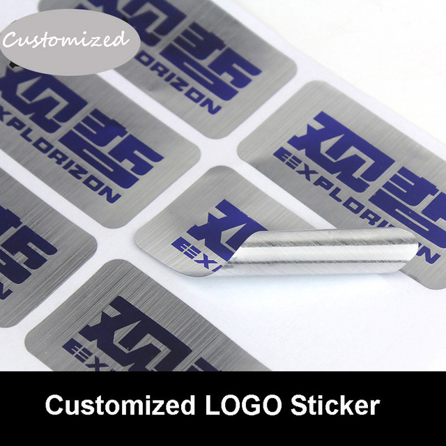 Customized matter golden silver drawbench sticker brand logo sealing stickers company qr code sticker
