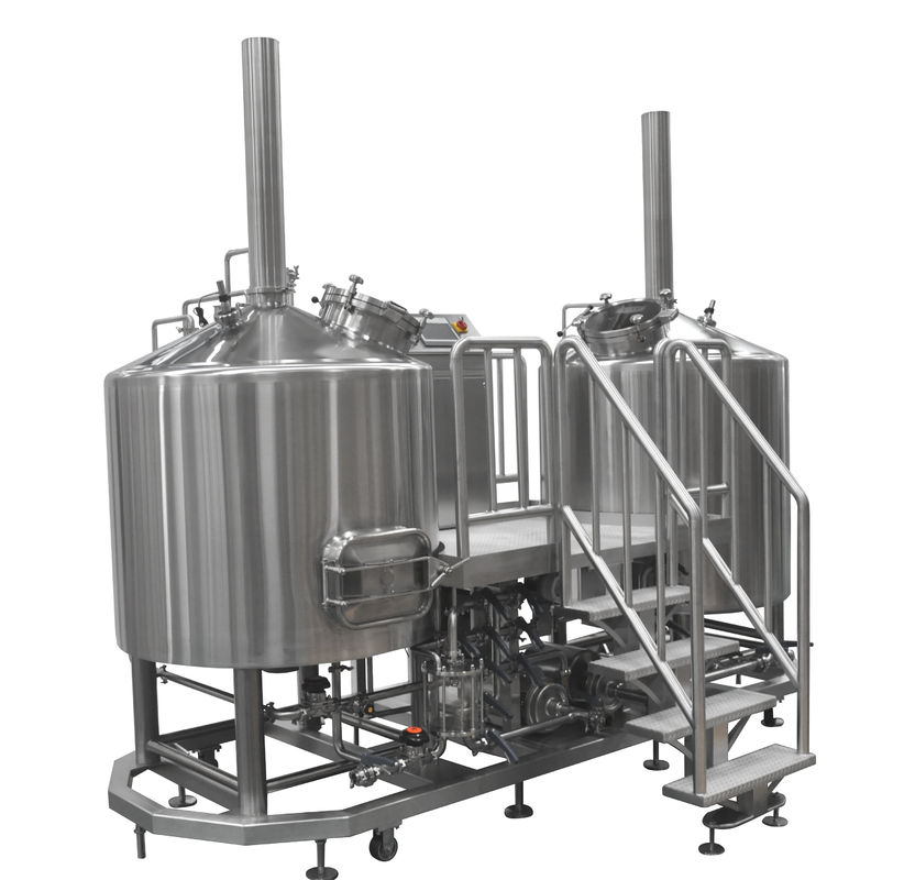 Craft Beer 2 Vessel Brewhouse Mash Lauter Tun and Kettle Whirlpool Tun