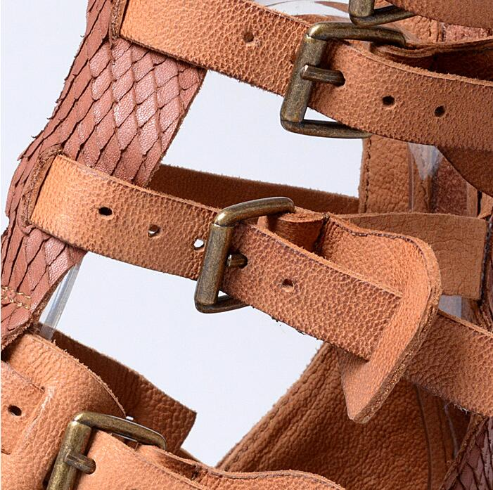 705a396cca4faa BEANGO Ladies Sandals 2017 Comfort Flip Flops Women Summer Fashion Leather  Buckle Zipper Vintage Gladiator Sandals Flat Shoes-in Women s Sandals from  Shoes ...