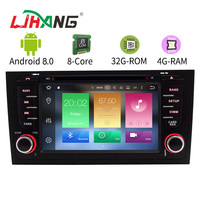 LJHANG 4G+32G Octa Cores Android 8.0 In dash Car DVD player For AUDI A6 S6 RS6 1997 2004 Multimedia GPS Radio Autoaudio WIFI AUX
