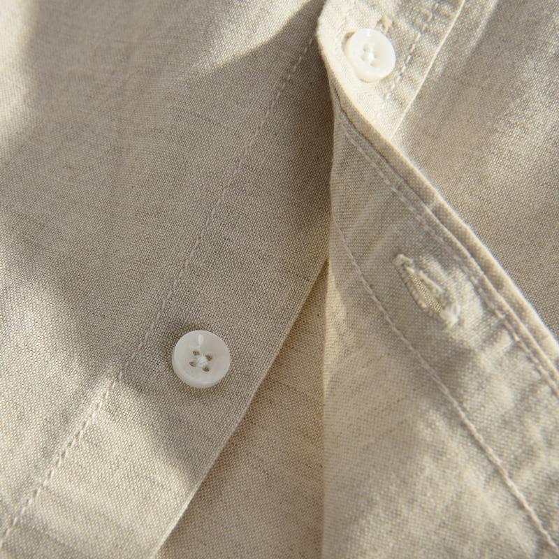 Italia Marca Suehaiwe's Moda Camisa de manga larga Hombre Lino - Ropa de hombre - foto 4