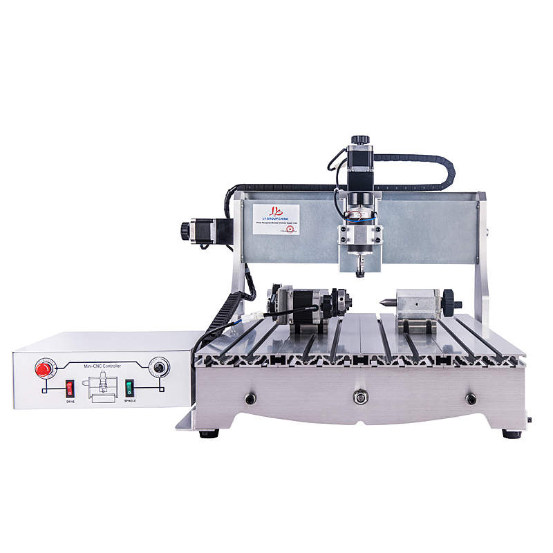<font><b>CNC</b></font> <font><b>6040</b></font> <font><b>4</b></font> <font><b>axis</b></font> wood router carving USB Mach3 control Woodworking Milling Engraver Machine with 300W spindle image