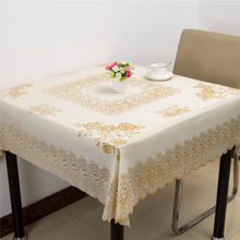 Modern Concise Oil Proof Water Proof Square Tablecloth Pastoral PVC Material  Decor Table Dustproof