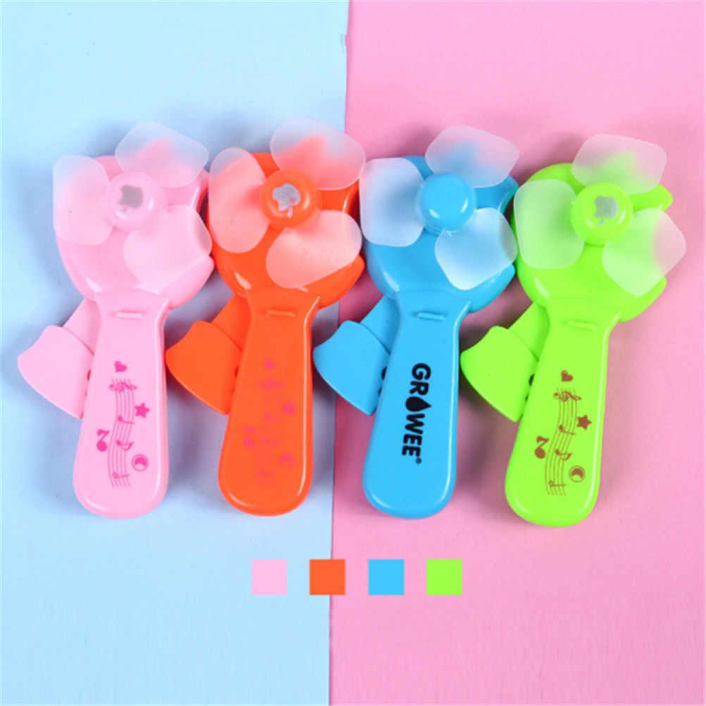 1 pc Games Geschenken Outdoor Zomer Cool Gadgets Gereedschap draagbare Mini Plastic Hand Druk Fan Kinderspeelgoed