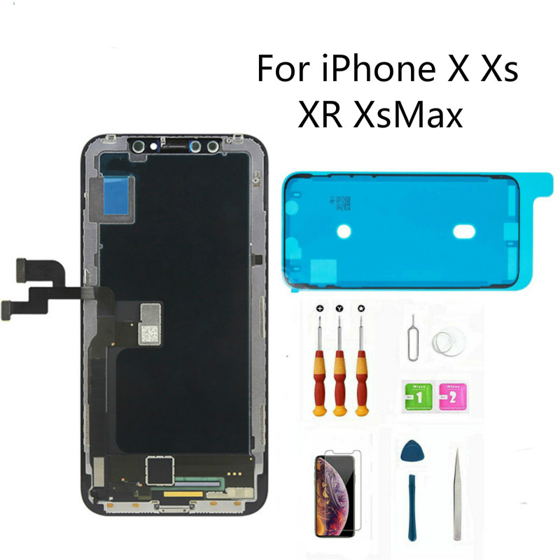 LCD For iPhone X Xs LCD Display For Tianma OEM Touch Screen LCDS With Digitizer Replacement Assembly Parts For iPhone XsMax XR(China)