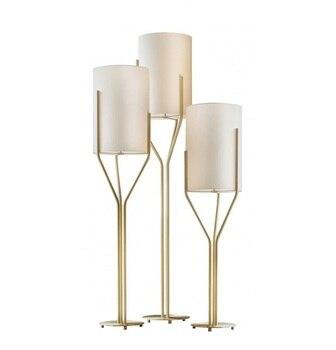 Deluxe 160 centimetri di Alta Lampada Da Terra in Raso Oro Finitura/Costoso Hotel Commercio Spazio Ufficio Lampade