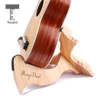 Tooyful High Quality 1Pc Guitar Accessory Foldable Wooden Instrument Stand Holder Suitable for Ukulele Mandolin Violin Banjo