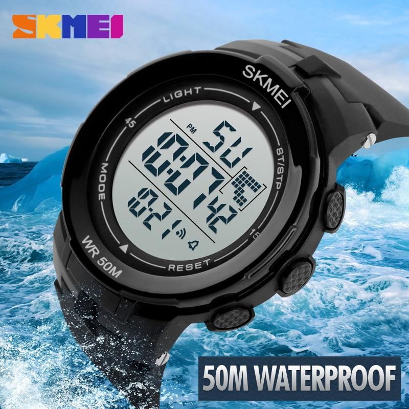 SKMEI 1127 Men Digital Sport Watch Outdoor Sports Watches Chronograph Alarm  Clock Life Waterproof Wristwatches e5c71d09b684d