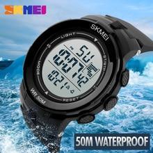 SKMEI 1127 Men Digital Sport Watch Outdoor Sports Watches Chronograph Alarm Clock Life Waterproof Wristwatches цены онлайн
