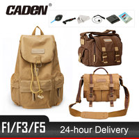New CADeN F1 F3 F5 DSLR Camera Bag Sling Shoulder Bags Photo Video Soft Pack Case Travel Camera Cases For Canon Nikon Sony