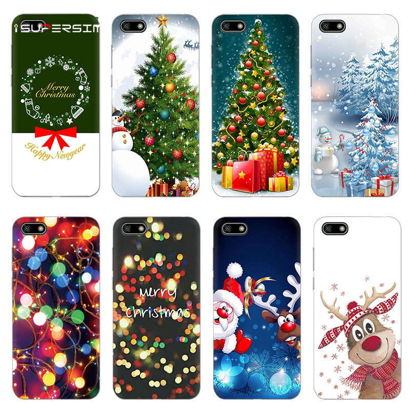Merry Christmas Tree for <font><b>Huawei</b></font> <font><b>Y5</b></font> Prime <font><b>2018</b></font> Case Silicone Phone 5.45