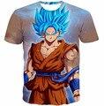 El más nuevo estilo Dragon Ball Z Goku t 3D camisa divertida animado Super Saiyan camisetas mujer hombre Harajuku tee shirts Casual camisetas tops