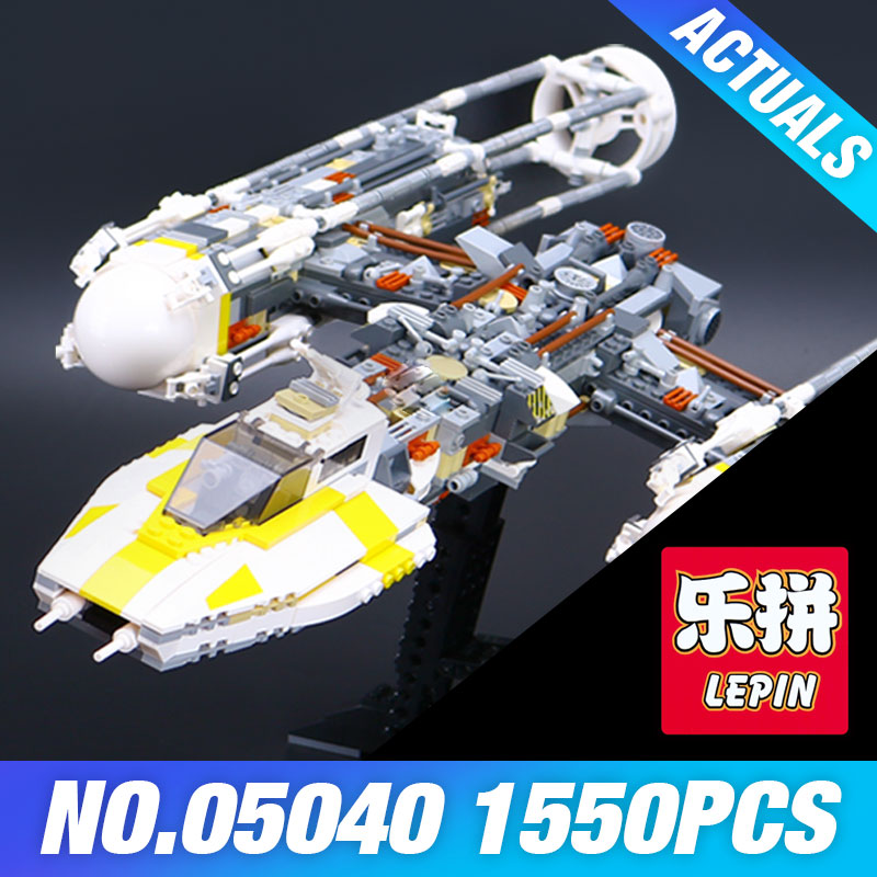 Lepin 05040 Star Series Wars Y Star wing Attack fighter Building Assembled Block Brick DIY Toy Compatible 10134 Educational Gift lepin 05040 star series y toy wing set attack fighter educational building block assembled brick compatible with war toys 10134